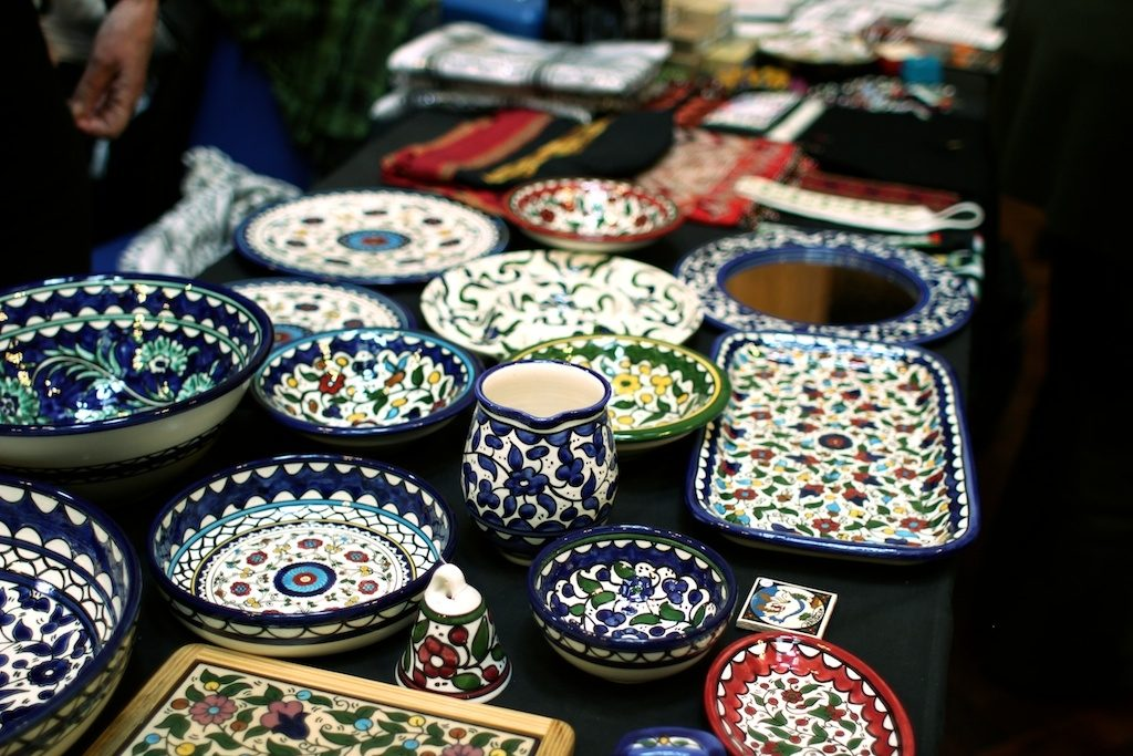 Palestinian Ceramics on Manchester PSC Stall