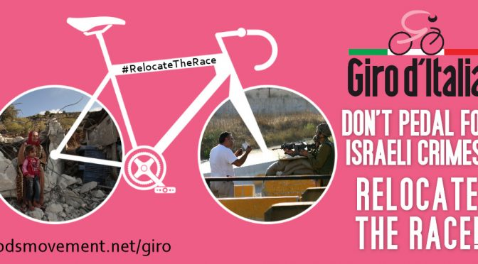 PROTEST RIDE: GIRO D'ITALIA – RELOCATE THE RACE FROM ISRAEL