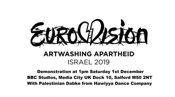 Eurovision 2019 Protest at BBC Sat 1st Dec