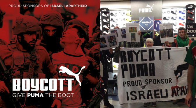 BOYCOTT PUMA – INTERNATIONAL DAY OF ACTION