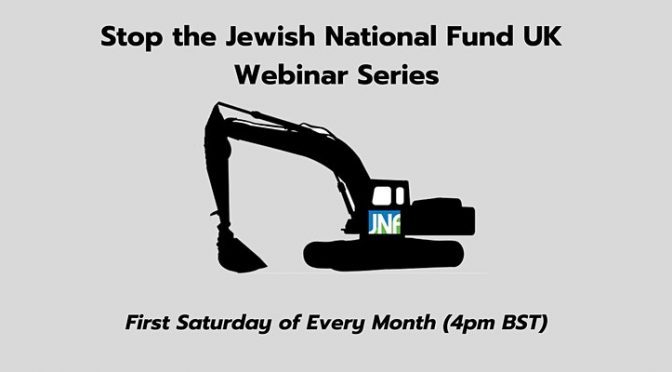 Stop  JNF Campaign Monthly Webinar Series