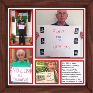 Elbit out of Oldham Online vigil 15 May 2
