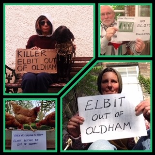 Elbit out of Oldham Online vigil 15 May 6