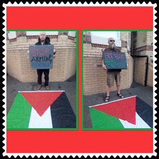Elbit out of Oldham Online vigil 15 May 9
