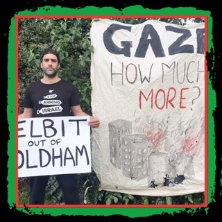 Elbit out of Oldham Online vigil 15 May 1