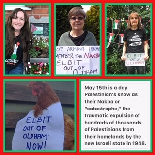 Elbit out of Oldham Online vigil 15 May