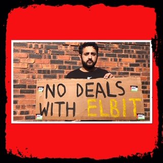 Elbit out of Oldham Online vigil 15 May 4