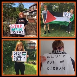 Elbit out of Oldham Online vigil 15 May 7