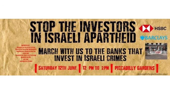 Stop THE BANKS INVESTING IN ISRAEL'S WAR CRIMES