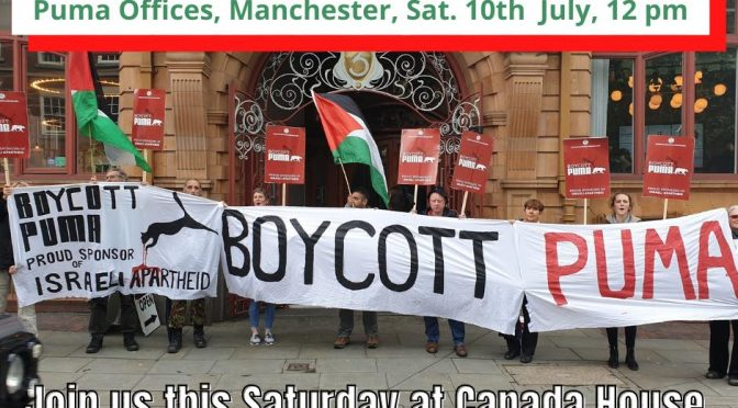 BOYCOTT PUMA DAY OF ACTION – TIME TO ACT