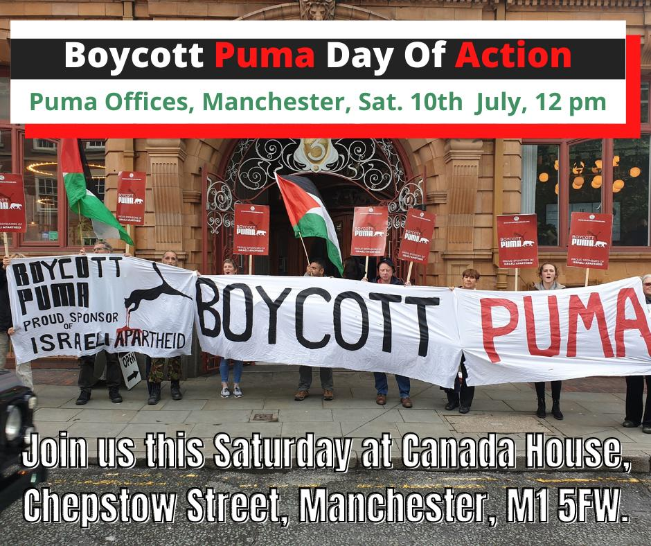 Boycott Puma Day Of Action - Time To Act